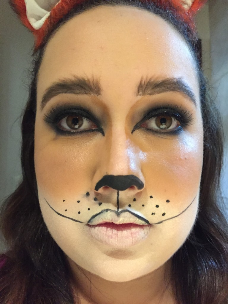 foxht8  Fox Halloween Makeup Tutorial foxht8 e1445988256601
