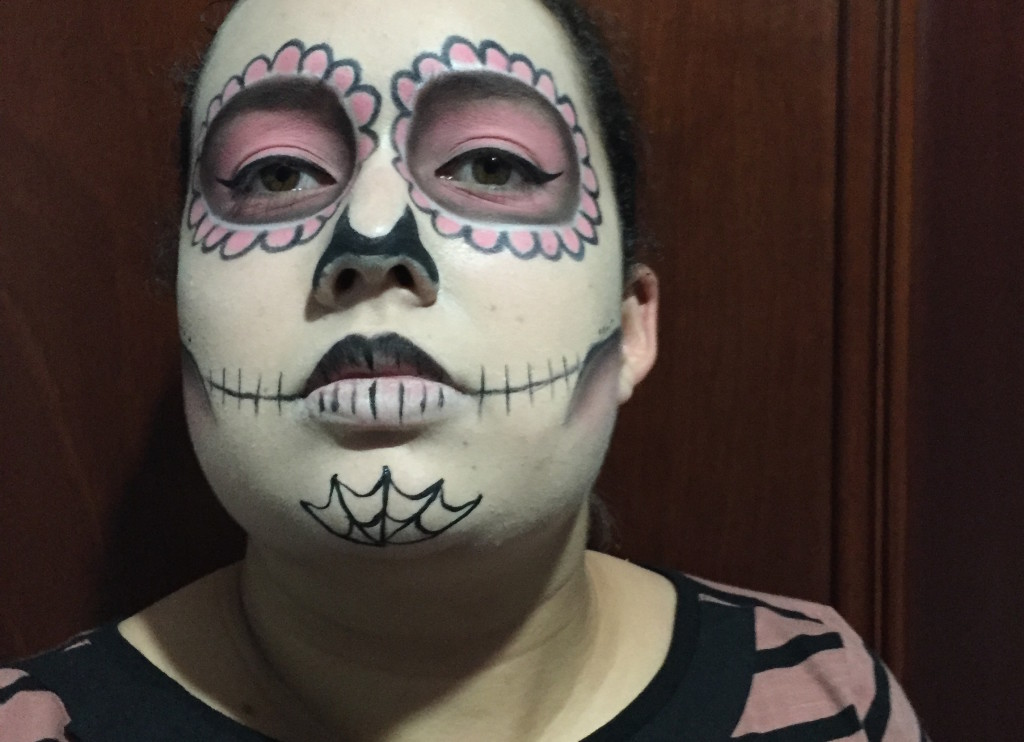 sugars14  Sugar Skull Halloween Makeup Tutorial sugars14
