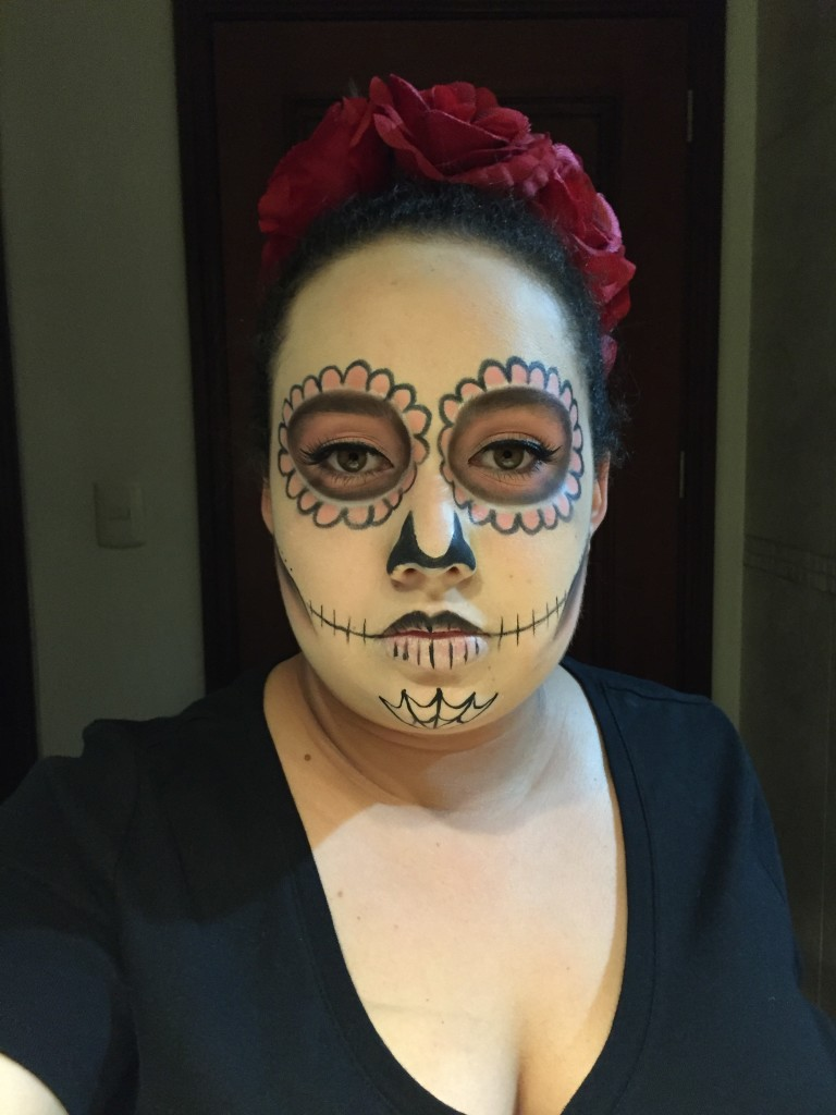 sugars17  Sugar Skull Halloween Makeup Tutorial sugars17 e1445809366341